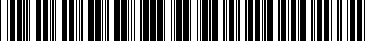 Barcode for 000071127DSP