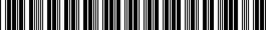 Barcode for 5G4072193HU3