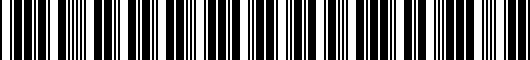 Barcode for 5G4072194HU3