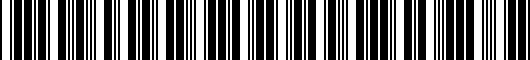 Barcode for 5K4072194HU3