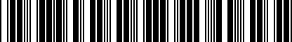 Barcode for 7L0071360