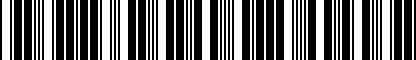 Barcode for 7P0064365