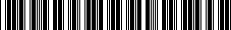 Barcode for 8N1721647B