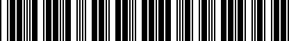 Barcode for DRG003801