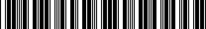 Barcode for NPN075022