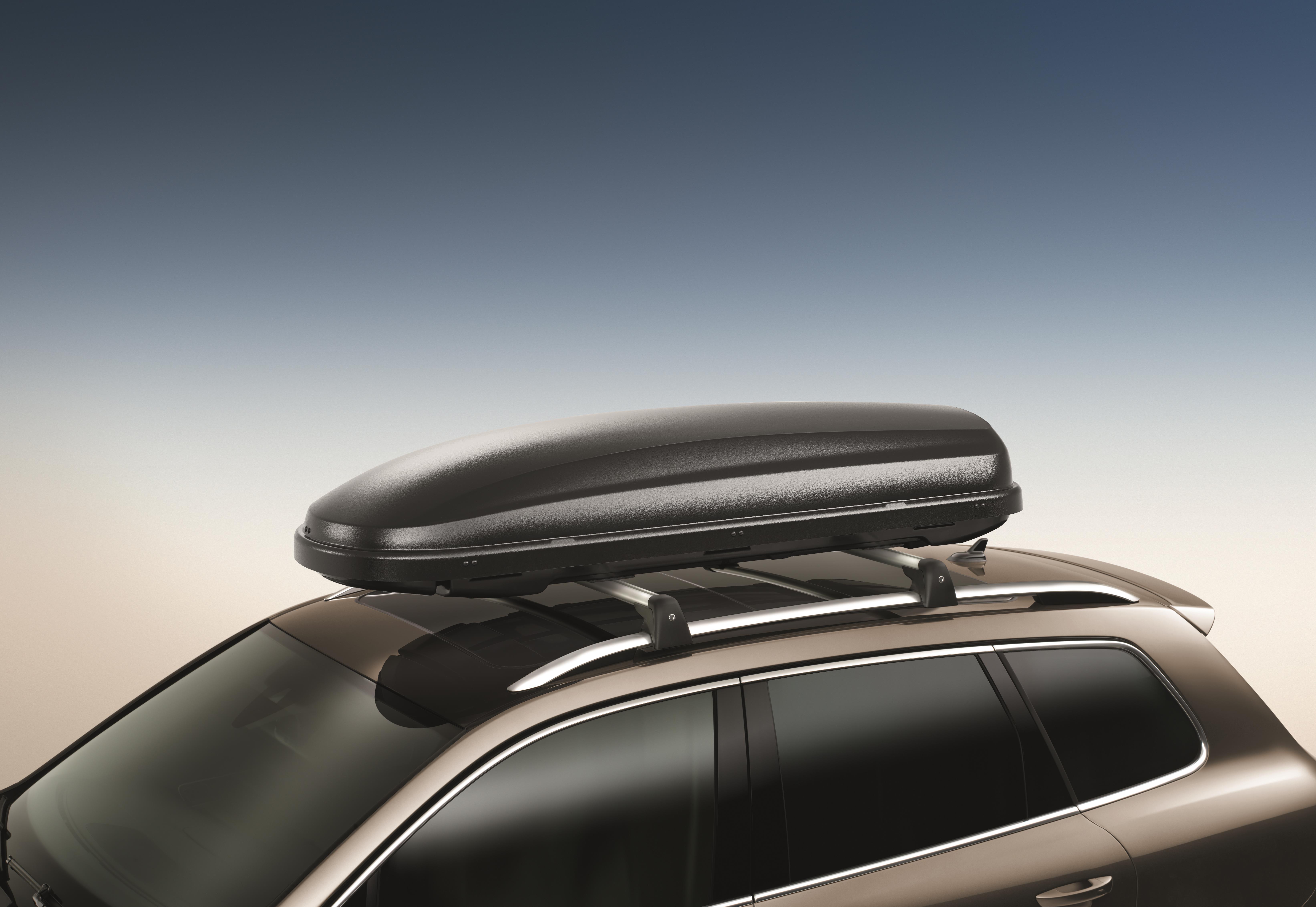 volkswagen golf  cargo box carrier matte black feet  genuine volkswagen accessory