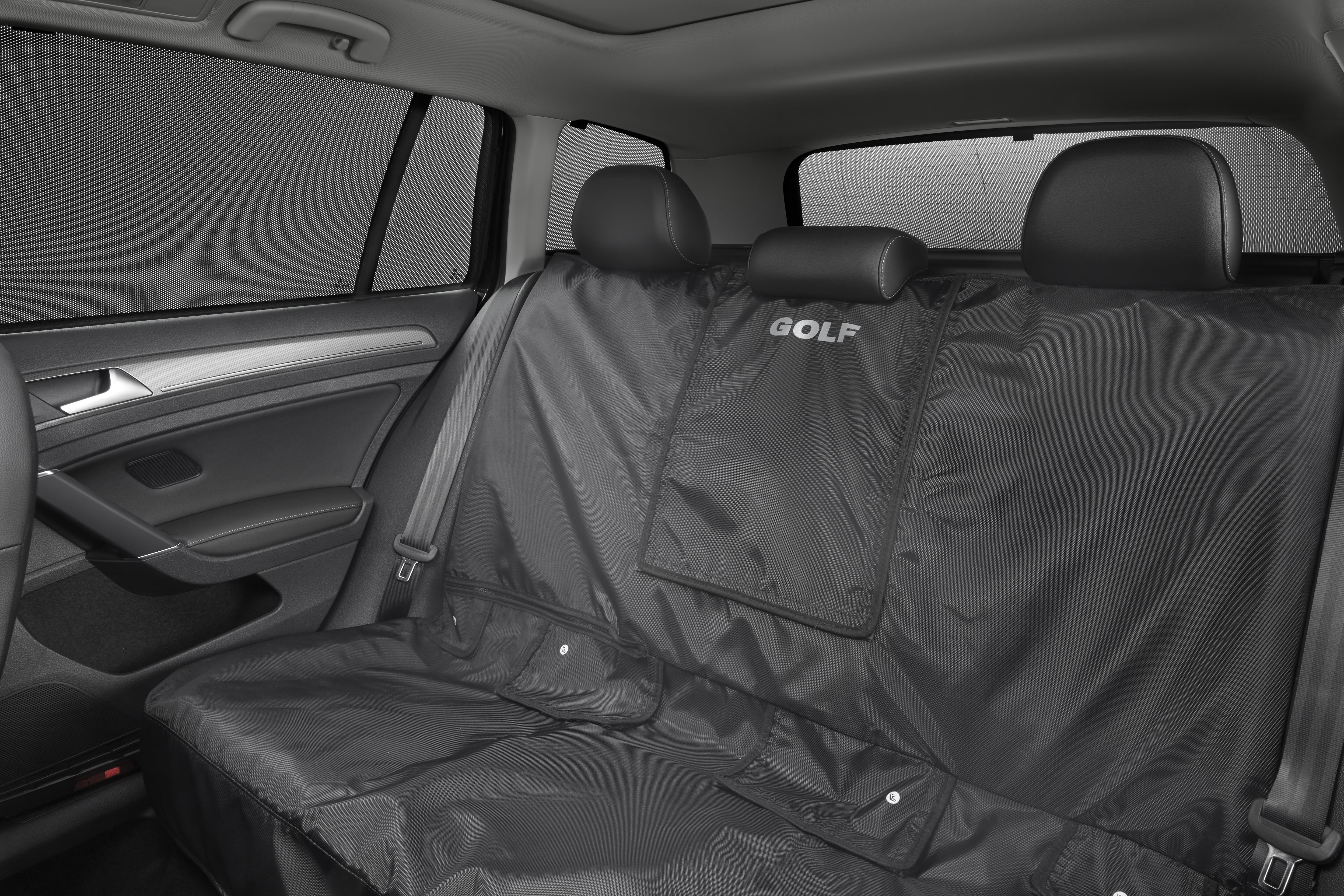 2015 Volkswagen Golf Rear Seat Cover With Golf Logo