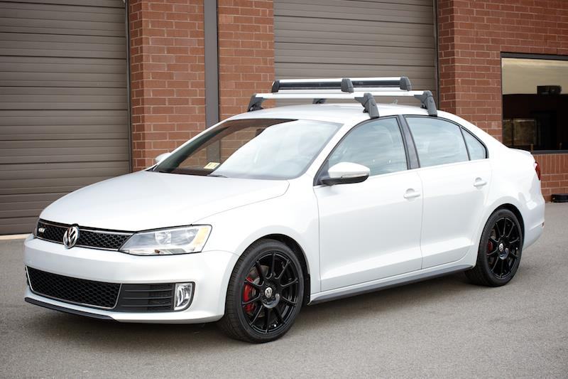 Kayak Roof Rack For Two 2015 Volkswagen Jetta Base Carrier Bars - Black/Silver ...