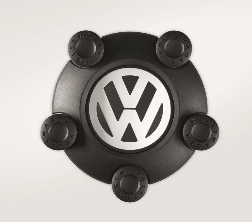 2016 Volkswagen Tiguan Center Cap For Winter Steel Wheel (Set of 4) - Black - 5N0071456XRW ...