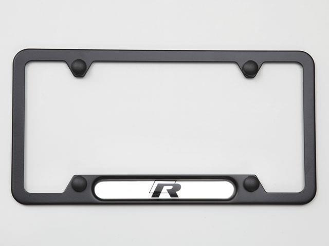 Volkswagen Beetle License Plate Frame R Black Frames