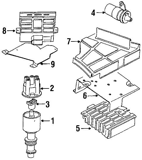 1985 Volkswagen Cabriolet Distributor Cap. Cylinder, GLI ...