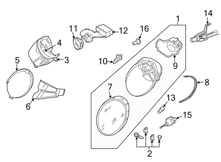 volkswagen beetle headlight wiring harness  whid  front