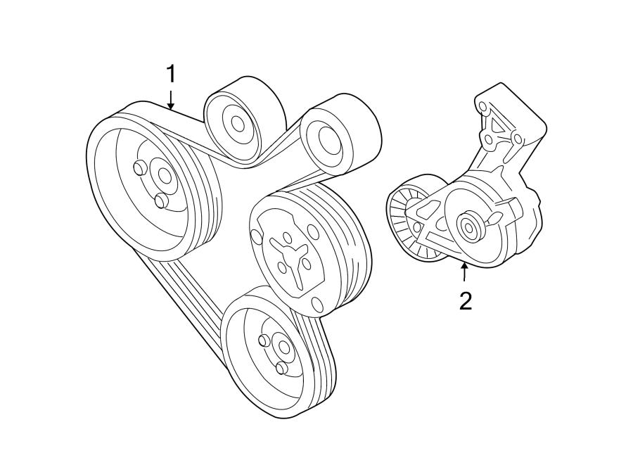 2000 Volkswagen Beetle Accessory Drive Belt Tensioner Assembly  Serpentine Tensioner  2 0 Liter