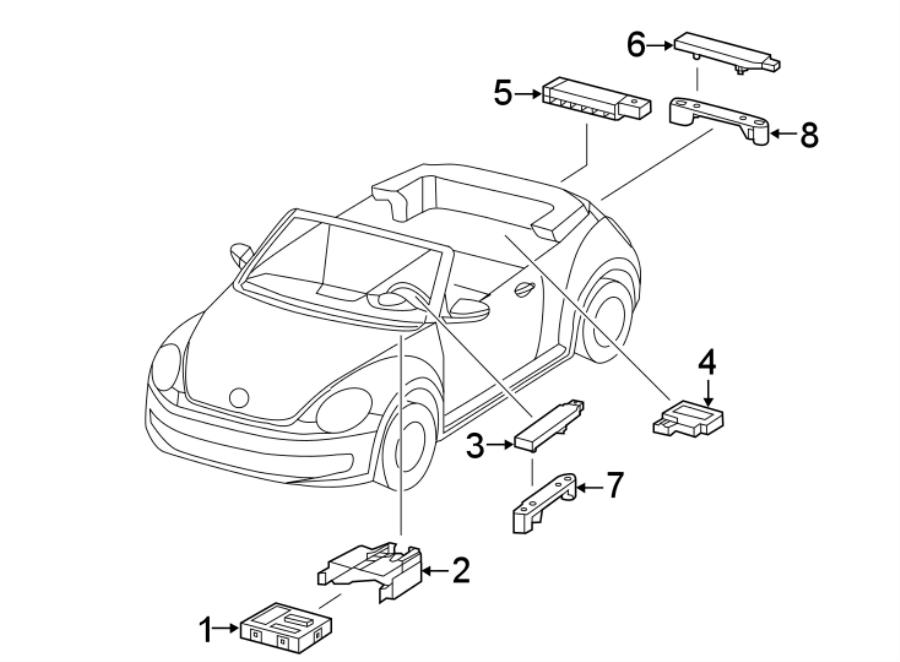 5k0962131 - aerial  keyless entry antenna  rear  bumper  components