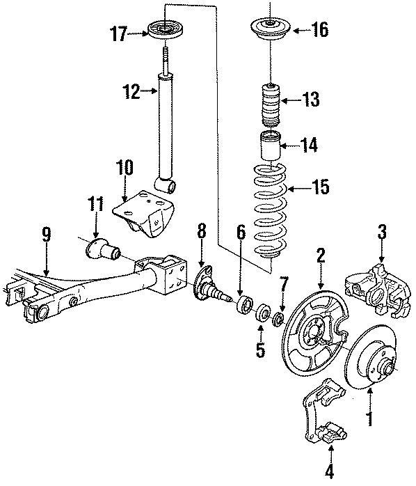 1999 volkswagen cabrio gls suspension strut mount reinforcement 4 cylinder components rear. Black Bedroom Furniture Sets. Home Design Ideas
