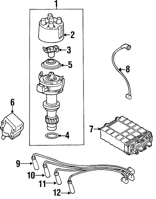 1998 Volkswagen Cabrio Spark Plug Wire  Cylinder  Ignition