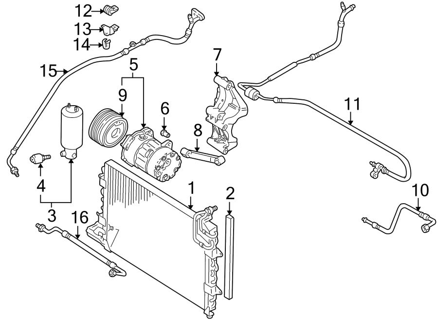 2001 Volkswagen Cabrio Ac Hoses  Air Conditioning  A  C  Refrigerant Suction Hose  Comp To