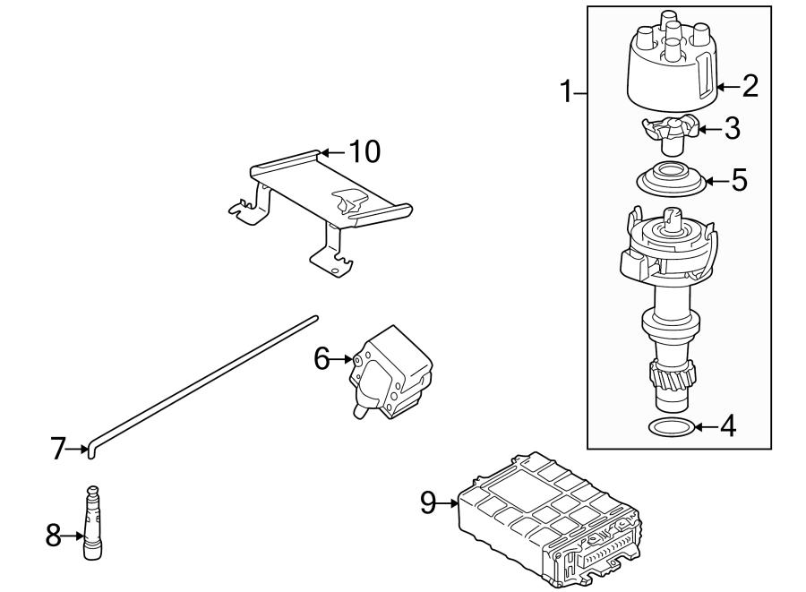 1999 Volkswagen Cabrio Spark Plug Wire  Cylinder  Ignition  Wires - N10316401