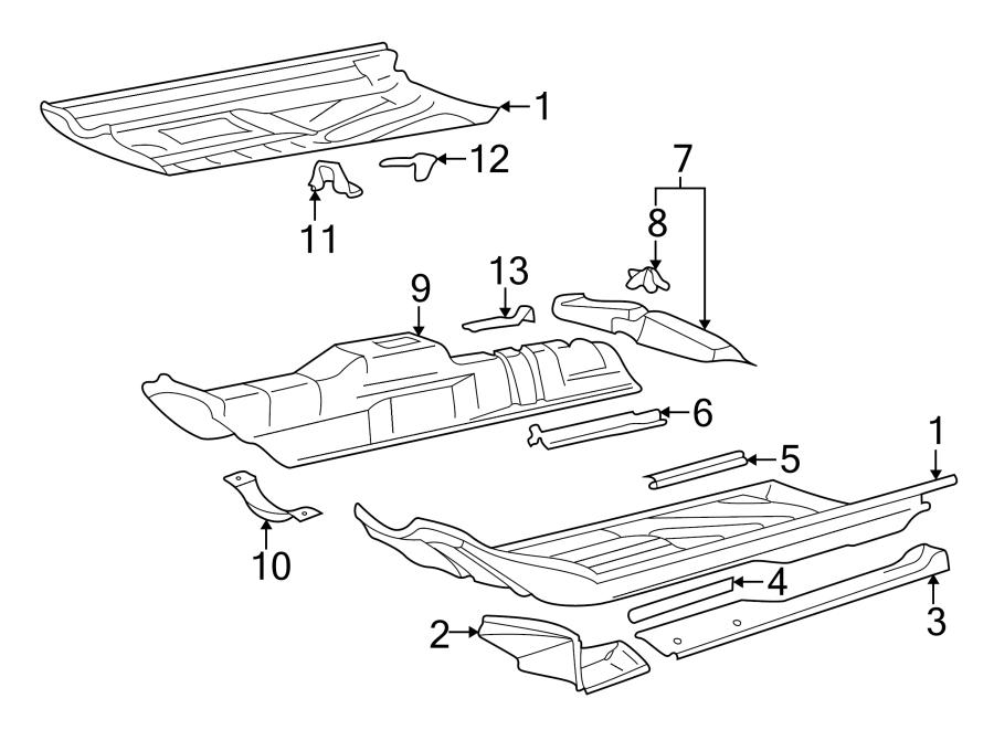 2002 volkswagen cabrio bracket  seat  support  track  closure panel mount  2 door  4 door  sedan