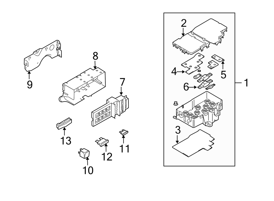 2004 volkswagen phaeton fuse box rear 3d0937499b. Black Bedroom Furniture Sets. Home Design Ideas