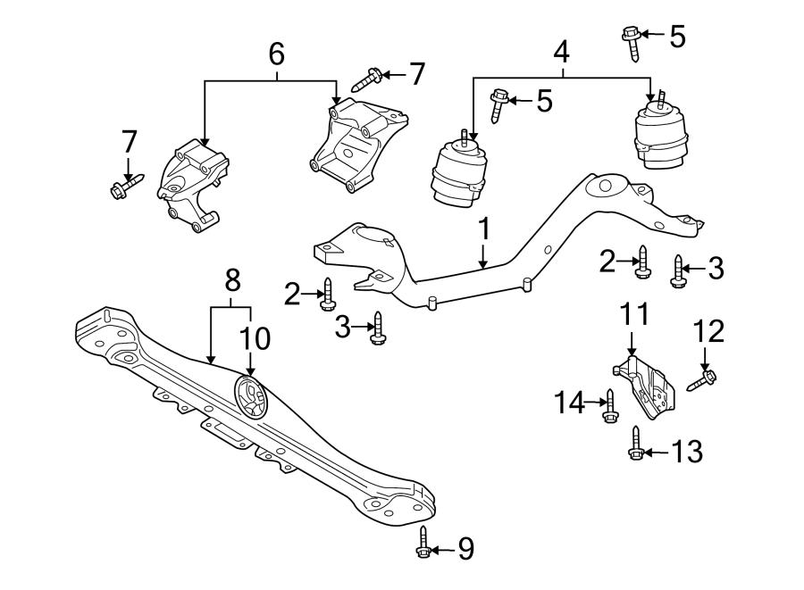 volkswagen touareg bolt  column  steering  mount  assembly