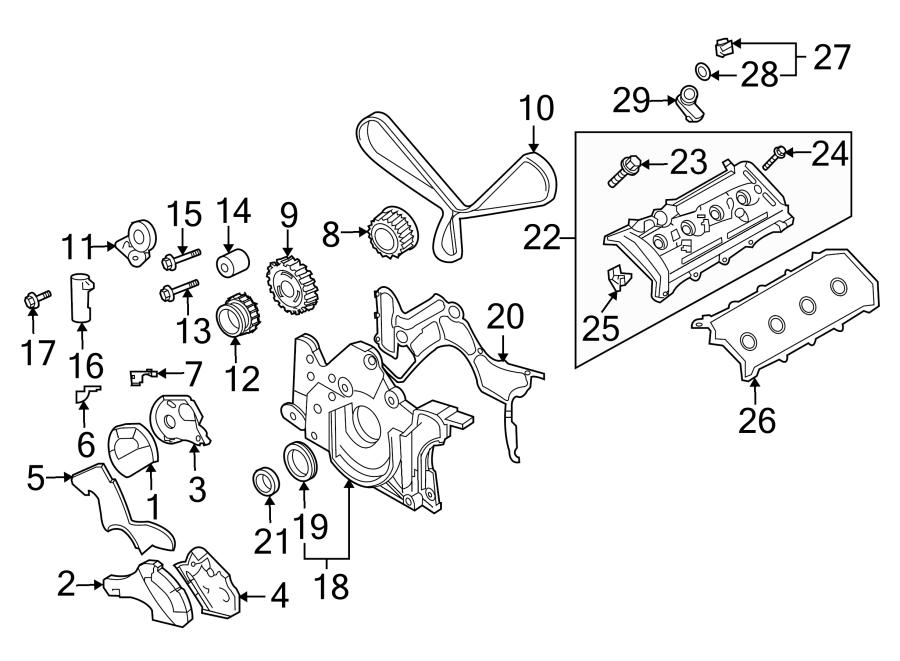 2004 volkswagen touareg engine valve cover 4 2 liter 2000. Black Bedroom Furniture Sets. Home Design Ideas