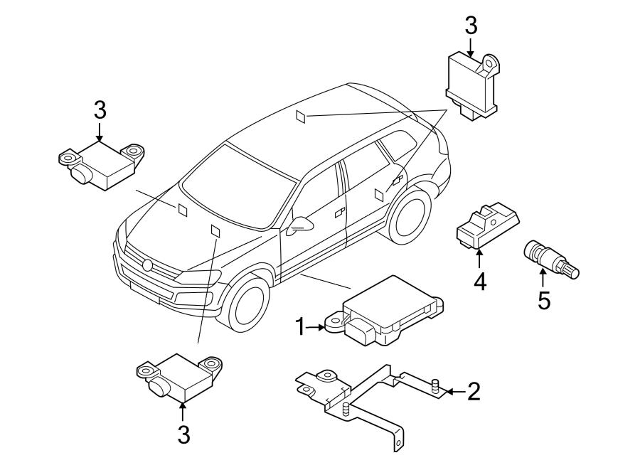 volkswagen touareg contour unit  control module  2011