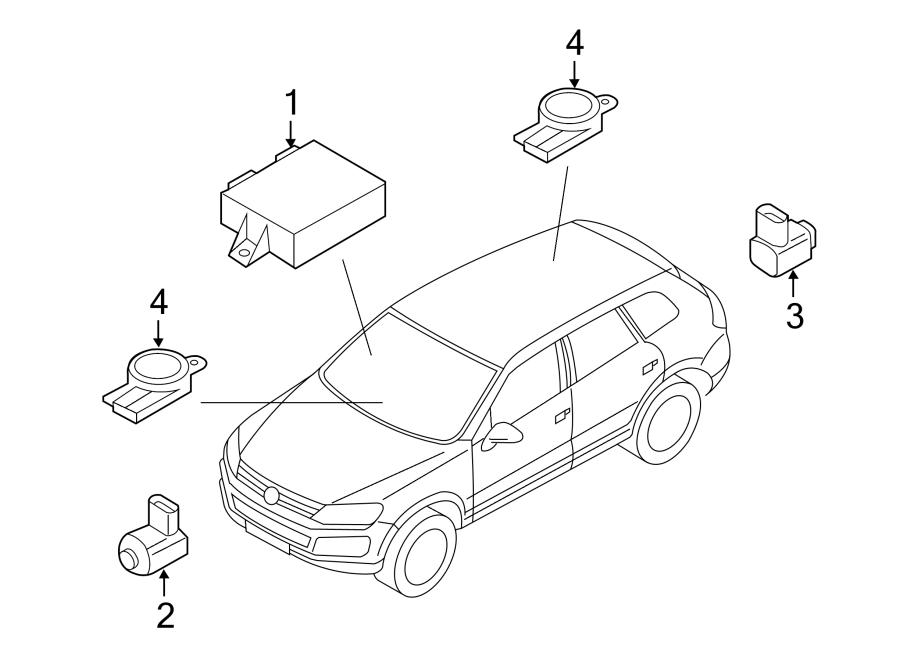 Volkswagen Touareg Parking Aid Control Module  Park Assist