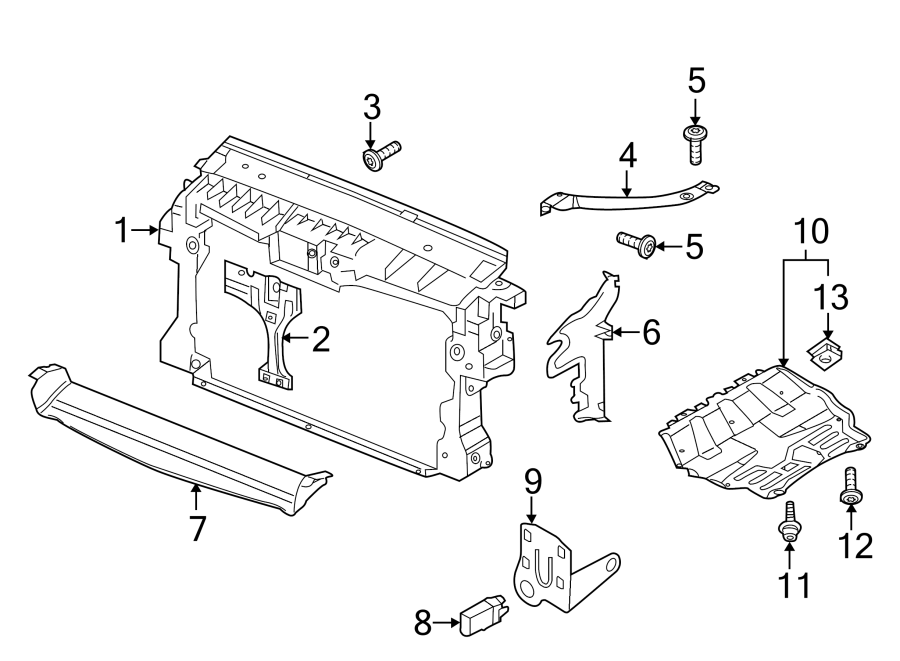 volkswagen tiguan radiator support splash shield  front  lower   cover  plate