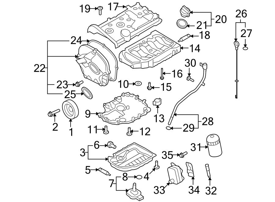 volkswagen tiguan engine oil drain plug  liter  pan - n91167901