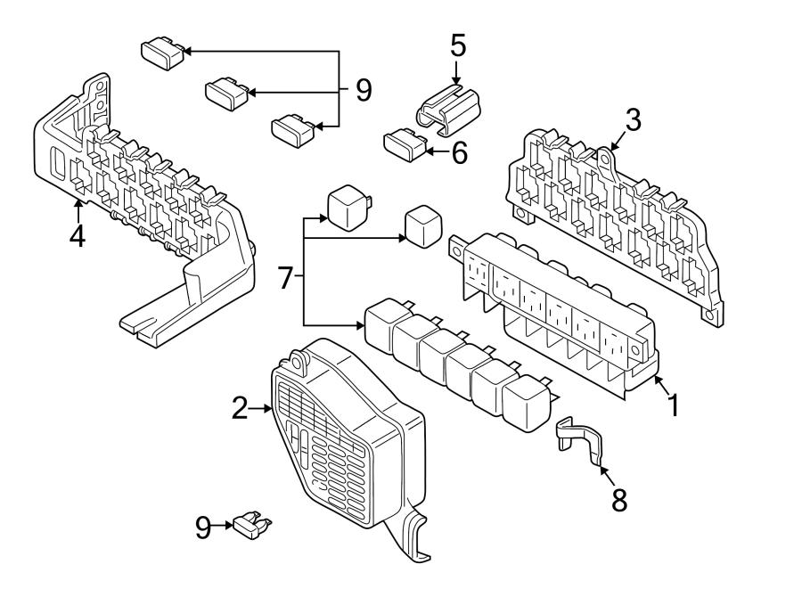 1998 volkswagen passat relay fuse bracket mount plate. Black Bedroom Furniture Sets. Home Design Ideas