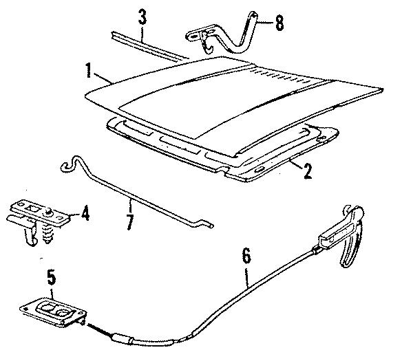 Volkswagen Jetta Insulator  Soundabsor  Oem  Hood  Group  Components  Body - 155863835