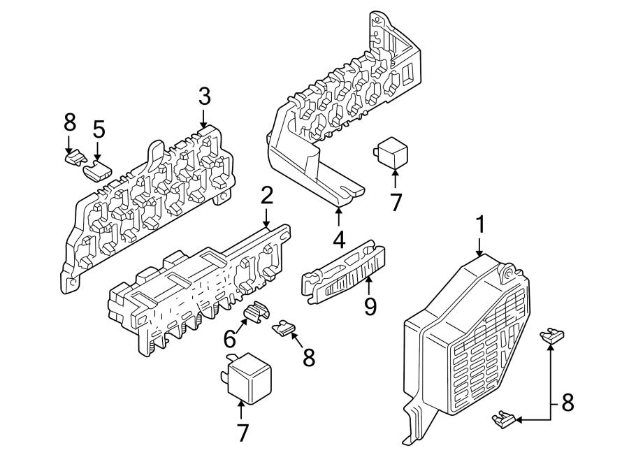 2002 volkswagen passat gls sedan 1 8l a t fwd relay fuse. Black Bedroom Furniture Sets. Home Design Ideas