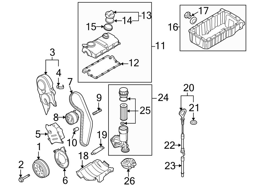 volkswagen passat engine timing belt tensioner  1 9 liter  100 horsepower  2 0 liter