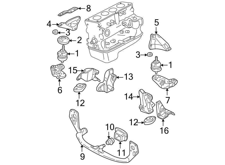 2003 Volkswagen Passat Wagon Automatic Transmission Mount
