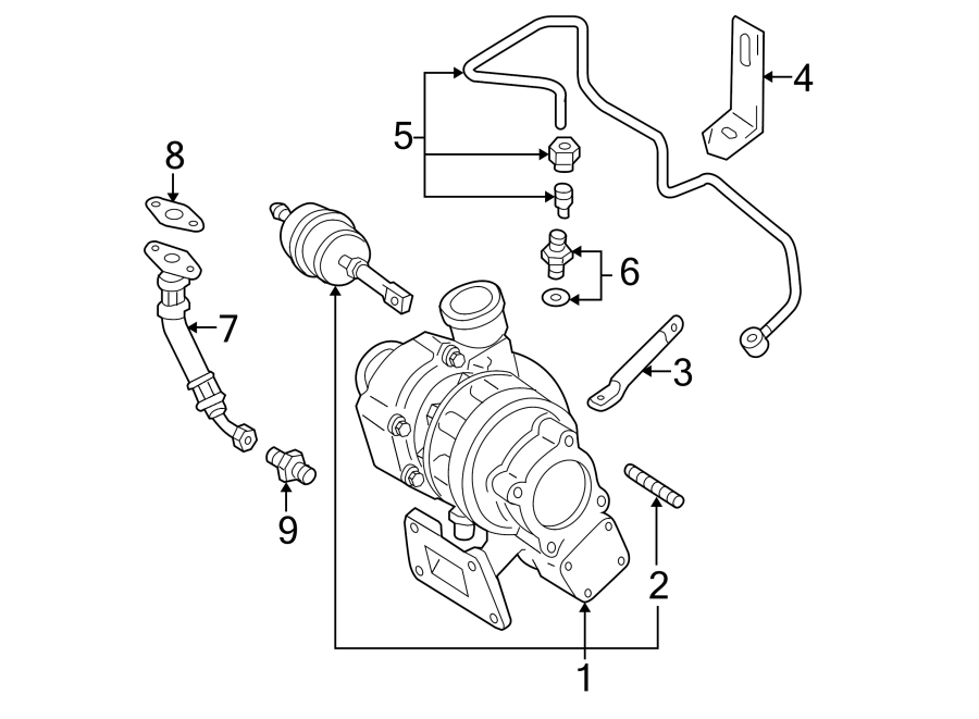 2004 Volkswagen Passat Turbocharger. Engine - 038145702NX ...