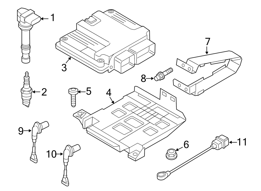 2011 Volkswagen Engine Camshaft Position Sensor  Engine