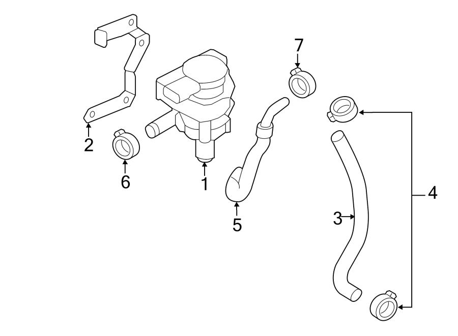 2014 Volkswagen Passat Engine Water Pump Bracket  3 6