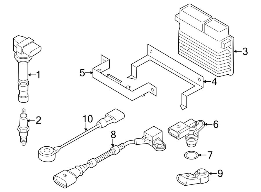 2014 Volkswagen Passat Engine Camshaft Position Sensor