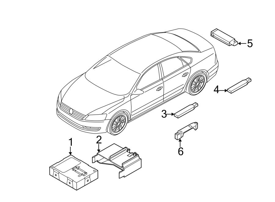 volkswagen passat contour  unit  control module  w  trunk sensor - 5k0959434h