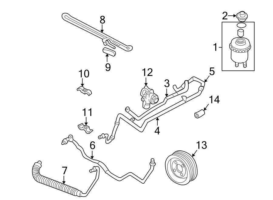 074121031 - power steering pump pulley