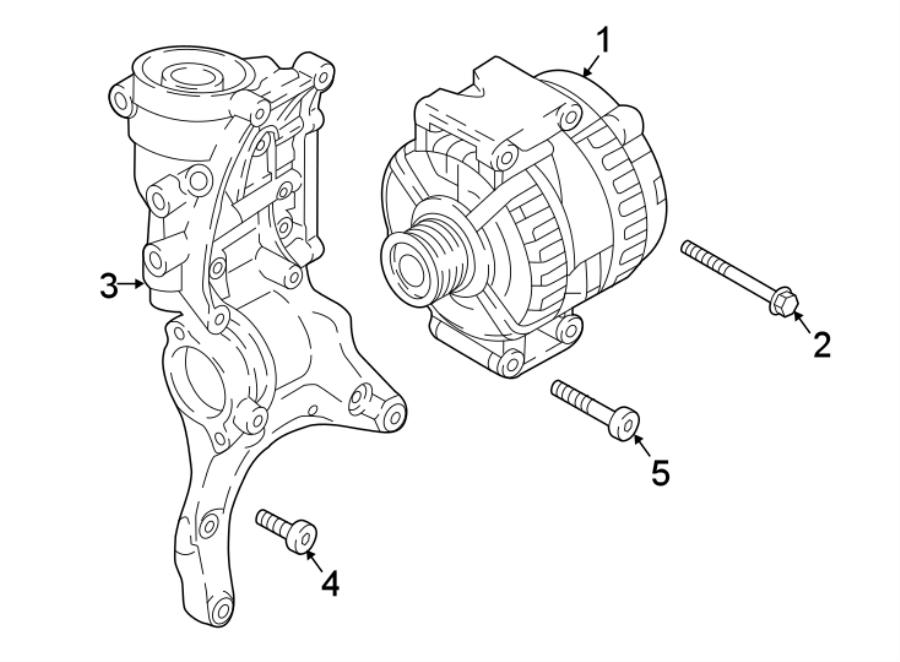 06k903023d - Alternator  New  Bosch  Gas