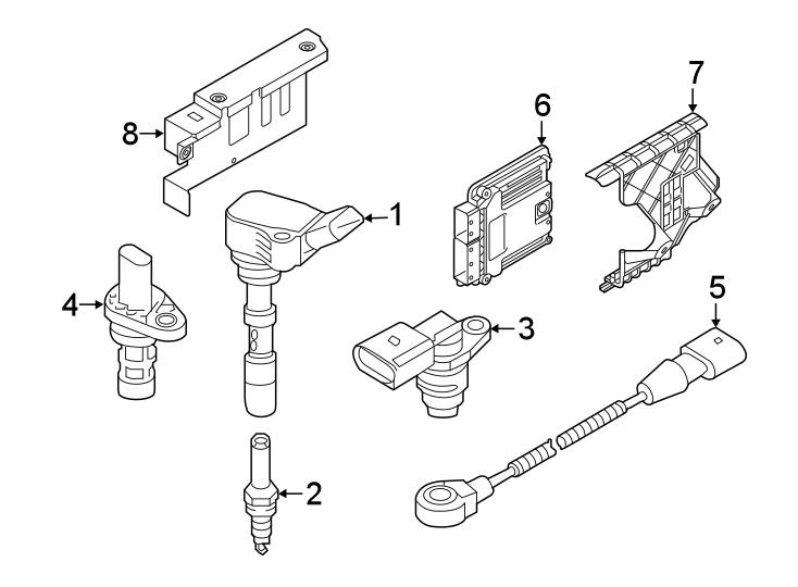 04c907601b - camshaft sensor  engine camshaft position sensor  sender  2 0 liter  from