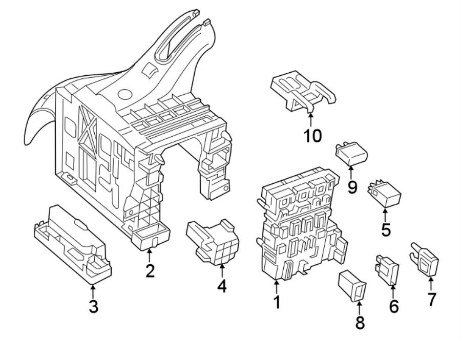 2015 Volkswagen Jetta Circuit breaker. Main fuse. Maxi ...