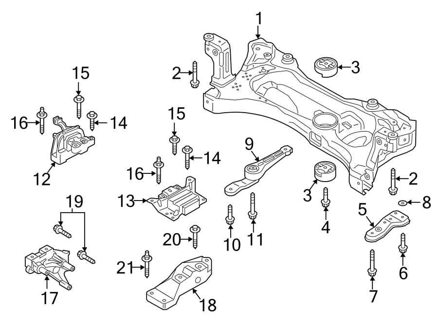 n91201001 - bolt  kit  mount  trans  auto  liter