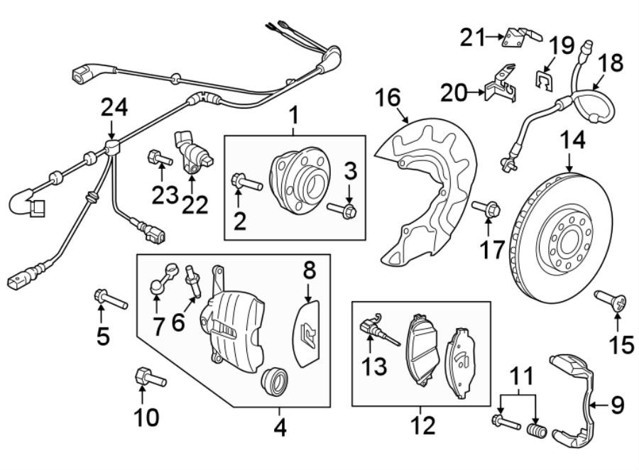 5g0615123d - disc brake caliper  suspension  left  brakes