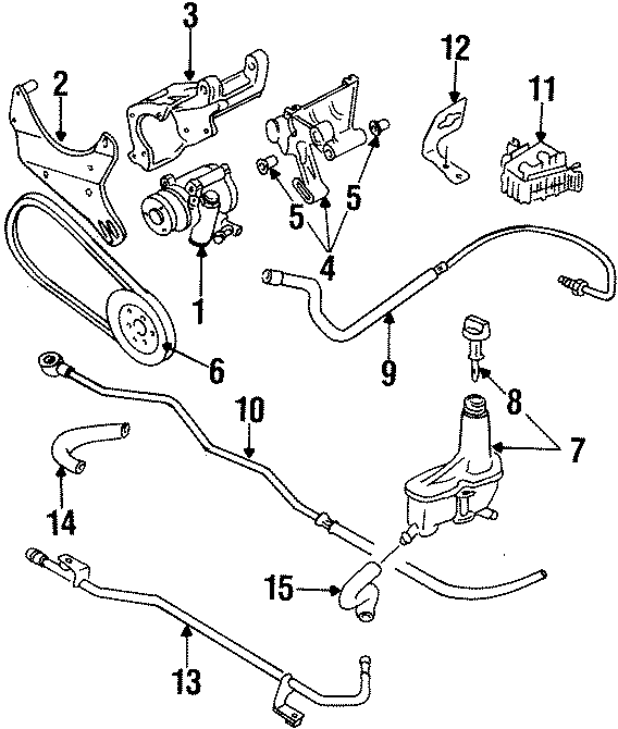 Diagram STEERING GEAR & LINKAGE. PUMP & HOSES. for your 1997 Volkswagen Golf GTI Hatchback