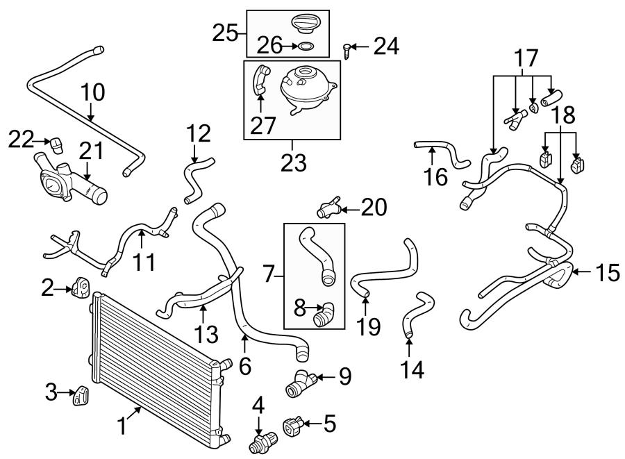 1j0121096bk - Engine Coolant Hose  2 0 Liter  Flange To Pipe  Manual Trans