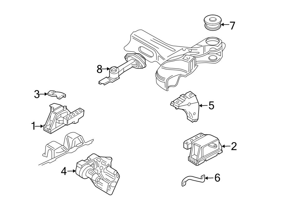 Volkswagen Jetta Gls Bracket  Transmission  Mount  Support