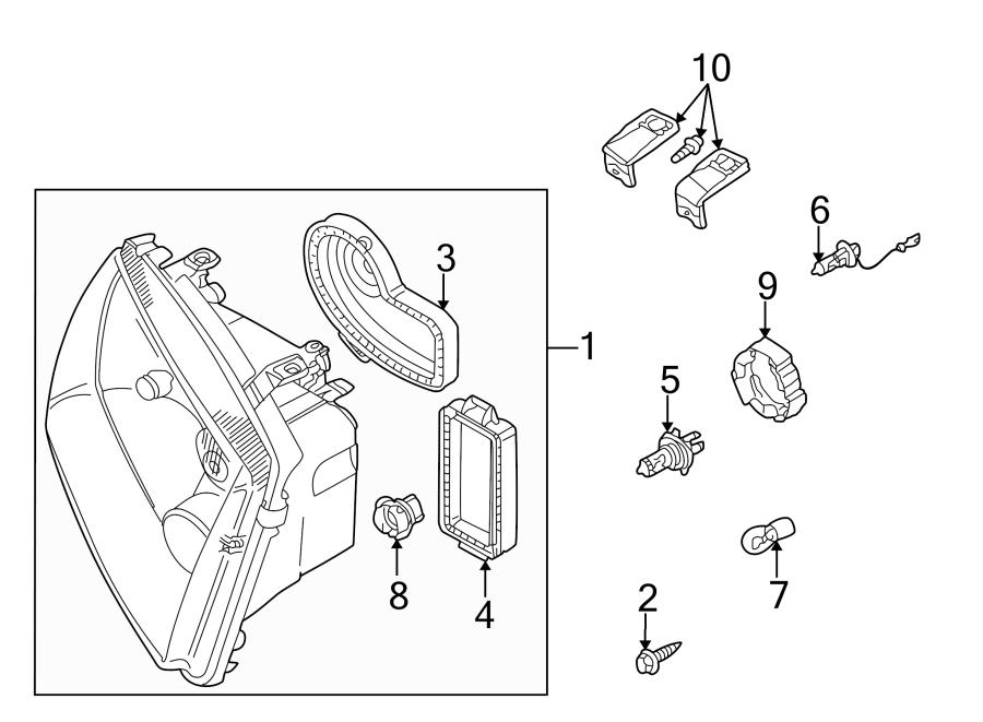 2000 Volkswagen Jetta Headlight Retaining Ring  Lower